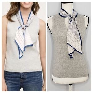 MOTH anthropologie scarf gray sweater vest top